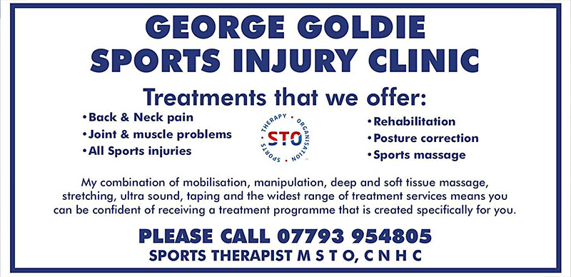 George Goldie - Sports Therapist